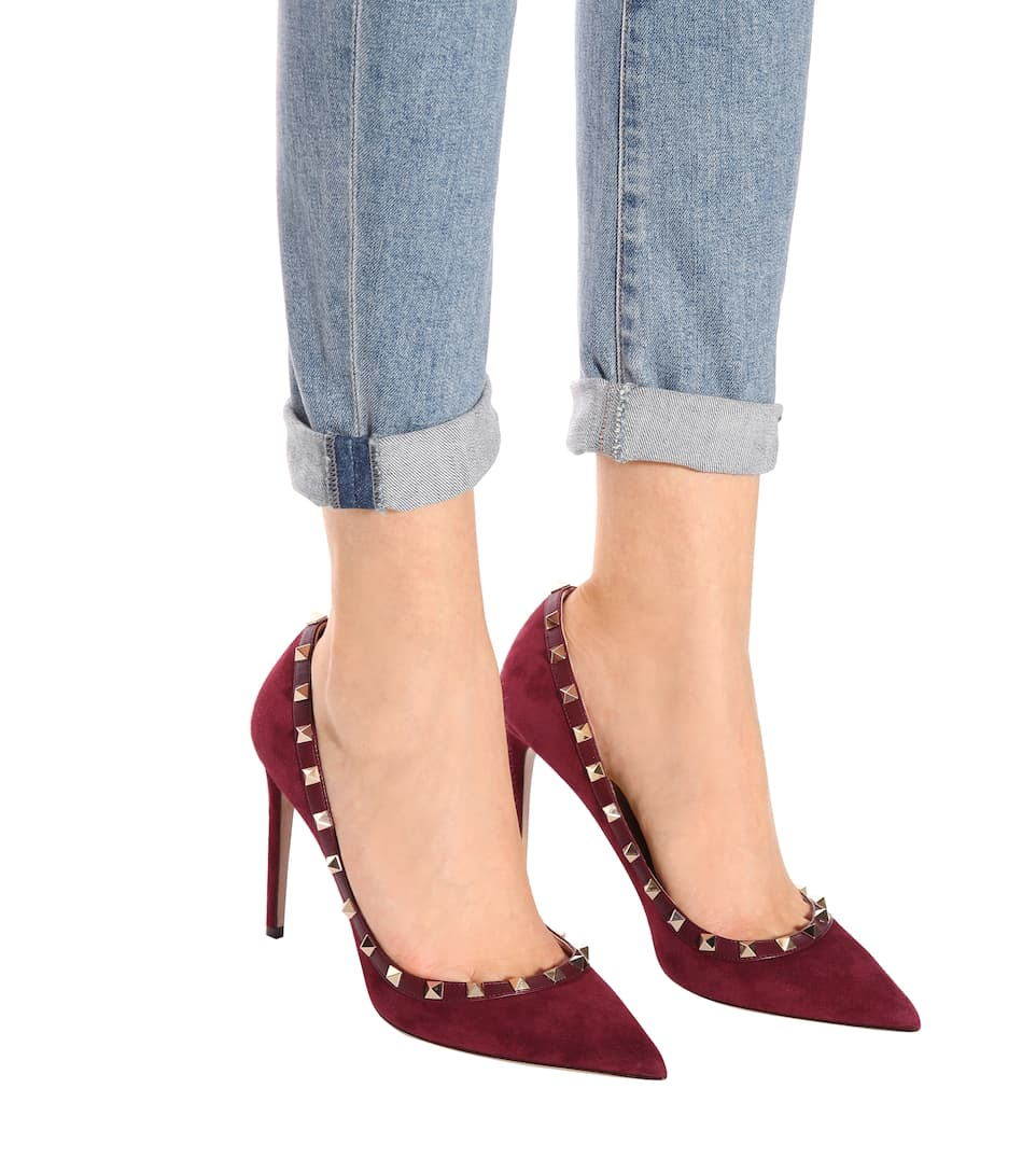 Valentino Valentino Garavani Rockstud suede pumps Vinaccia For Sale Finishline Get The Latest Fashion Big Discount Cheap Price Pictures Cheap Price Sale Deals 7tfAk85Dwu