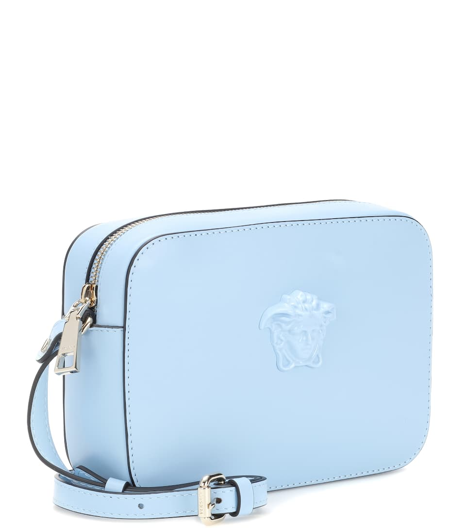 07f34a6fd1 Palazzo Leather Shoulder Bag - Versace
