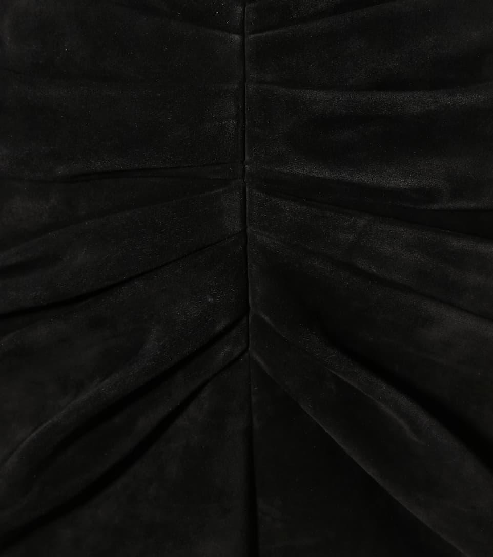 Saint Laurent Minirock aus Veloursleder