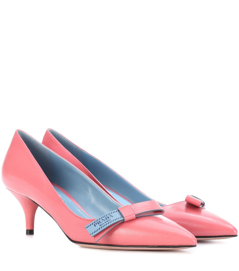 Prada Leather pumps discount clearance store 1qSBze80