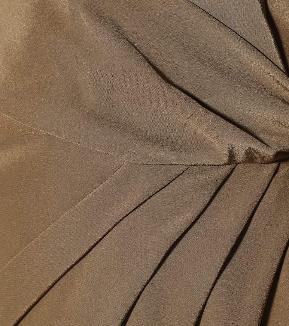 Auslass Perfekt Auslass Größte Lieferant Rick Owens Ärmelloses Wickelkleid aus Seide nBvtQyHWcR