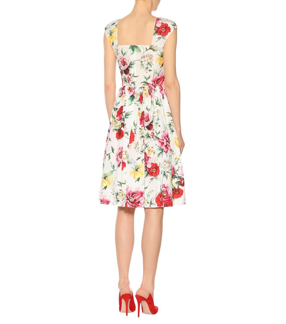 Dolce & Gabbana Bedrucktes Kleid aus Baumwolle