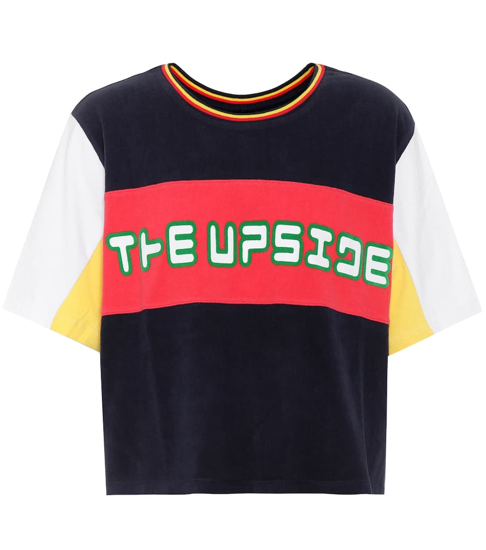 The Upside Cropped T-Shirt Colour Block aus Baumwolle