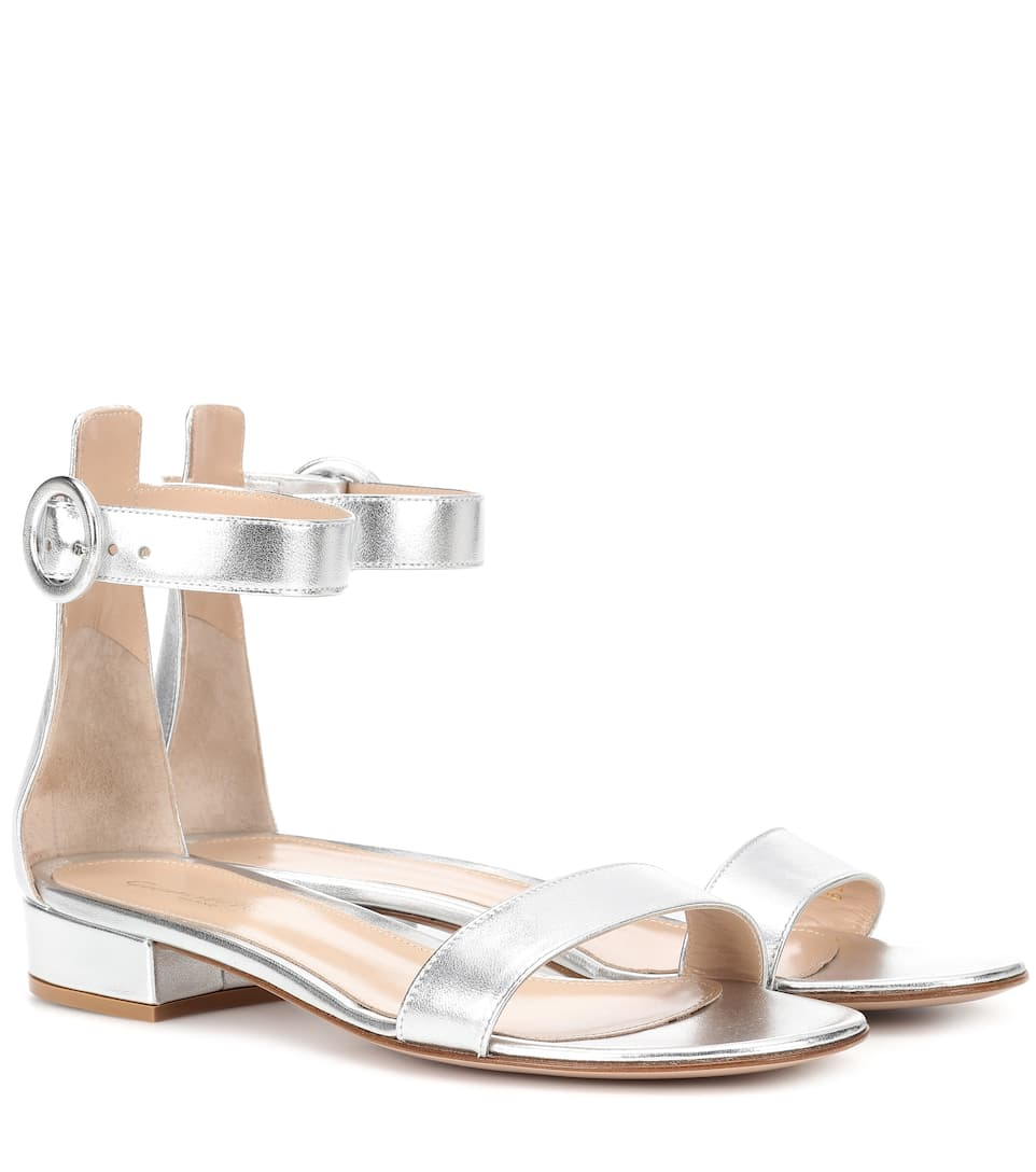 EXCLUSIVE TO MYTHERESA.COM - PORTOFINO 20 LEATHER SANDALS