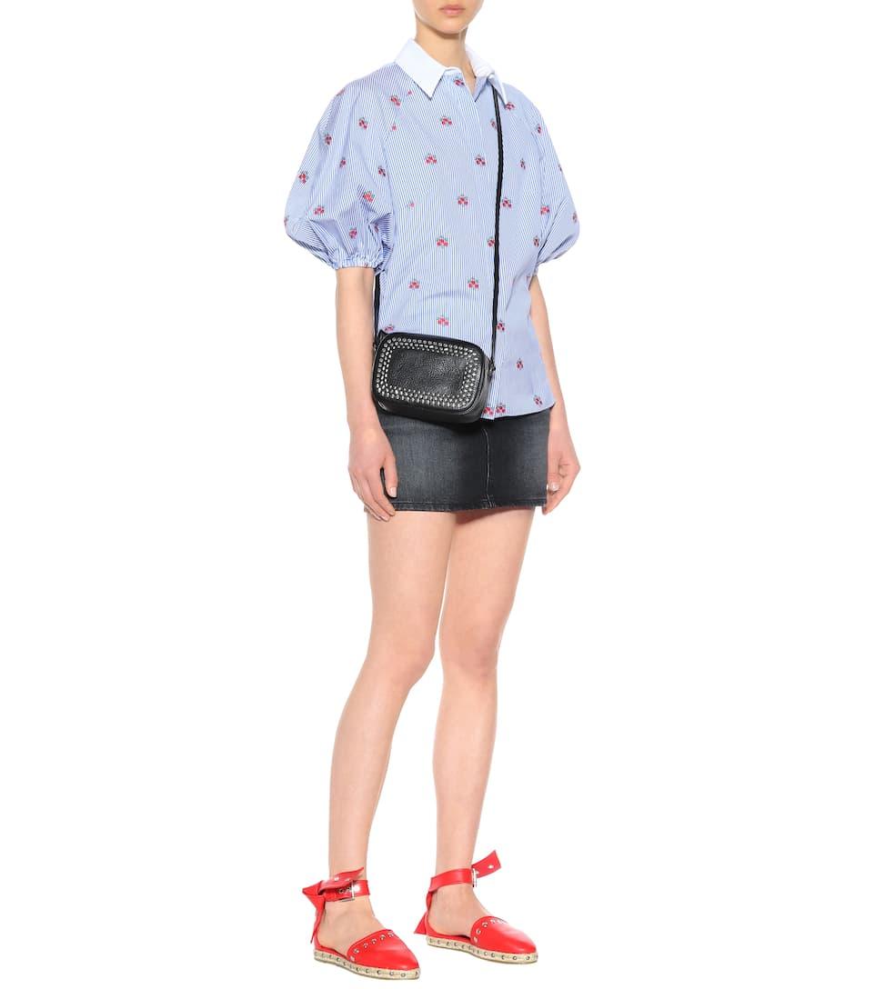 Alexander McQueen Gestreifte Oversize-Bluse aus Baumwolle