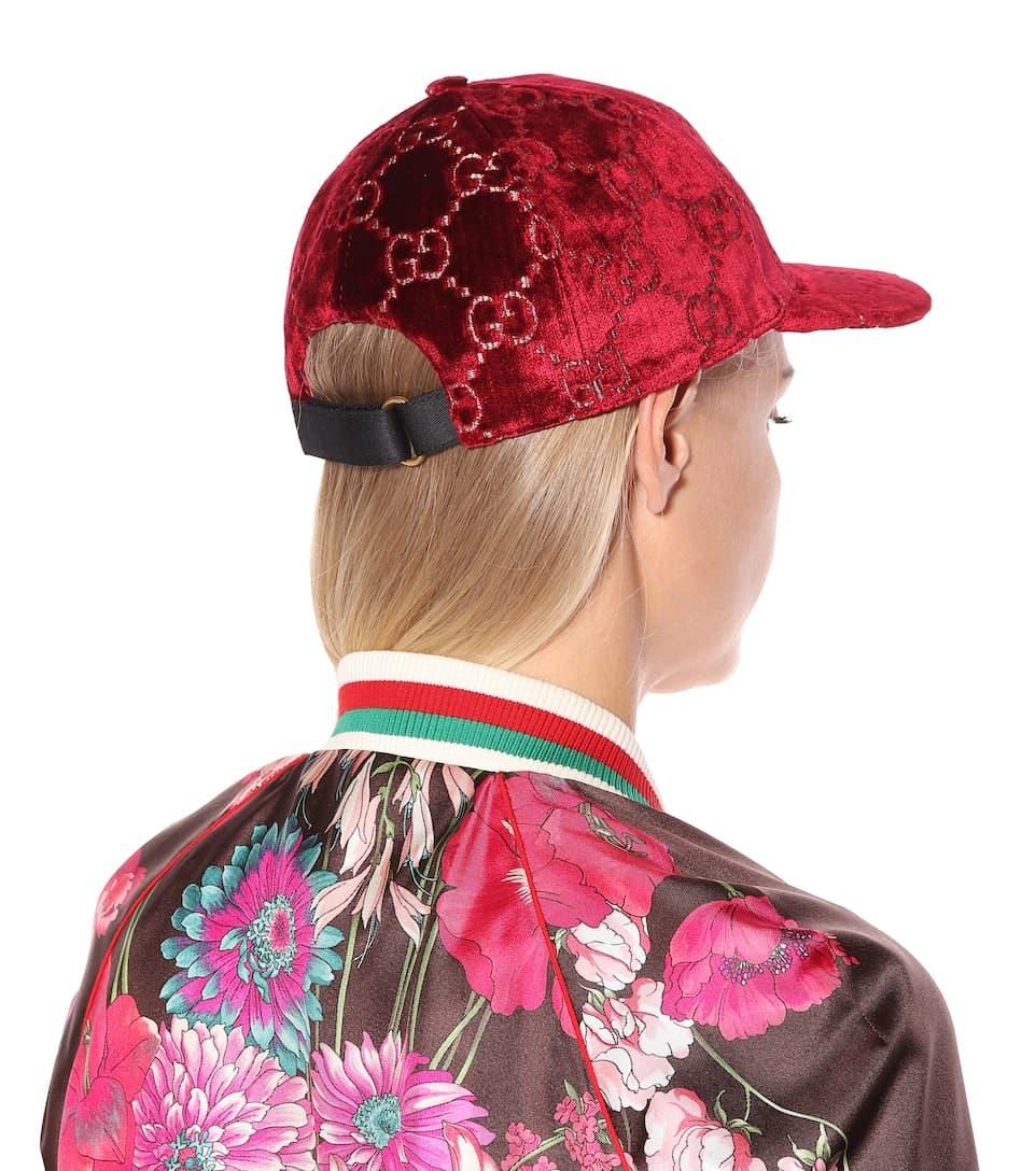 f2983b14294 GG velvet cap. Gucci
