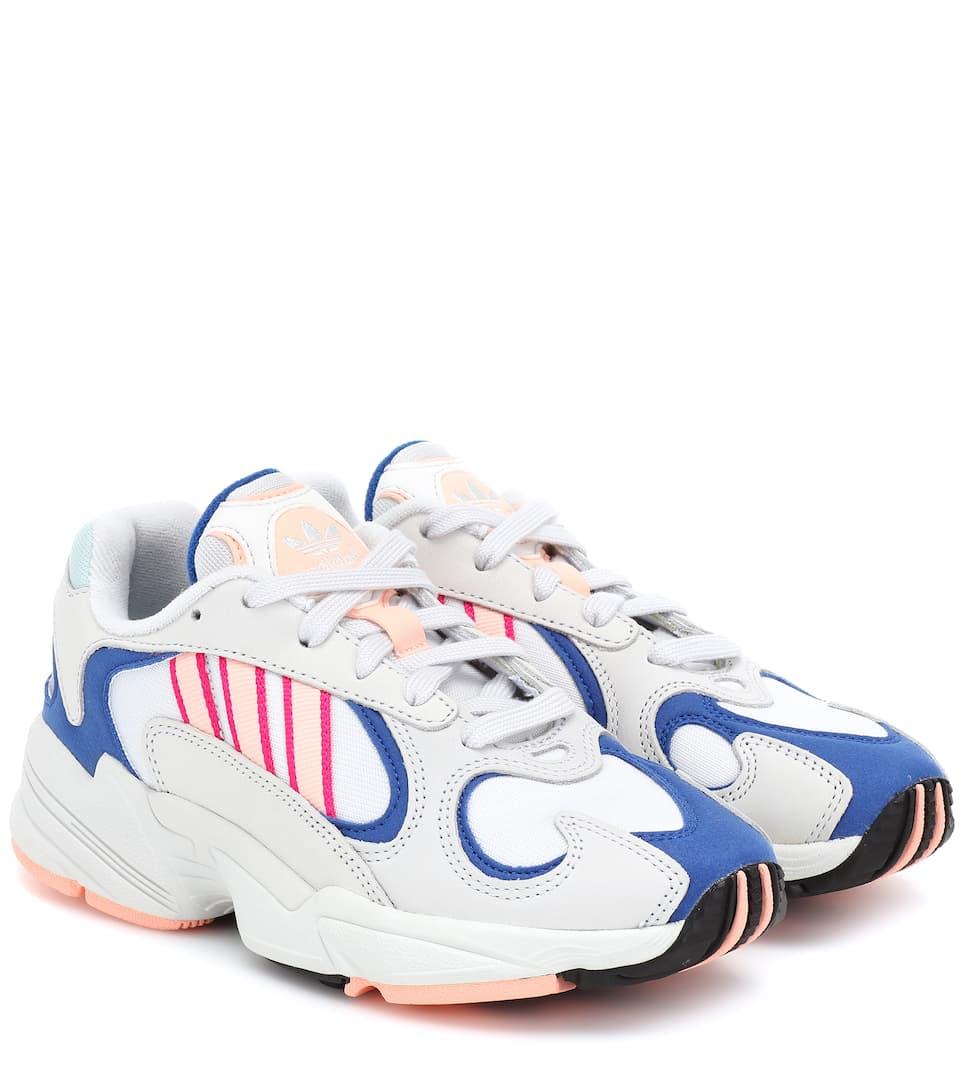 Sneakers Yung 1 In Mesh E Pelle Adidas Originals | Mytheresa