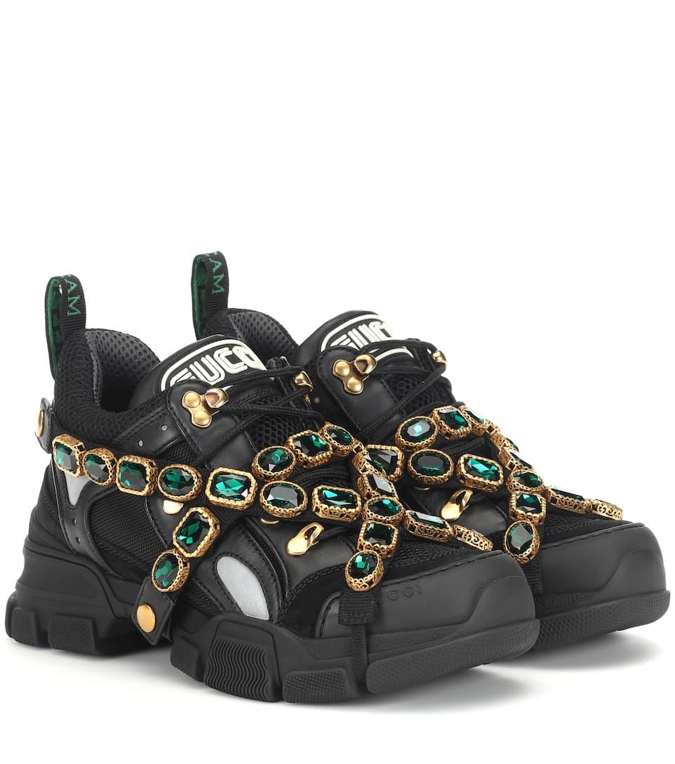 Flashtrek Embellished Sneakers | Gucci