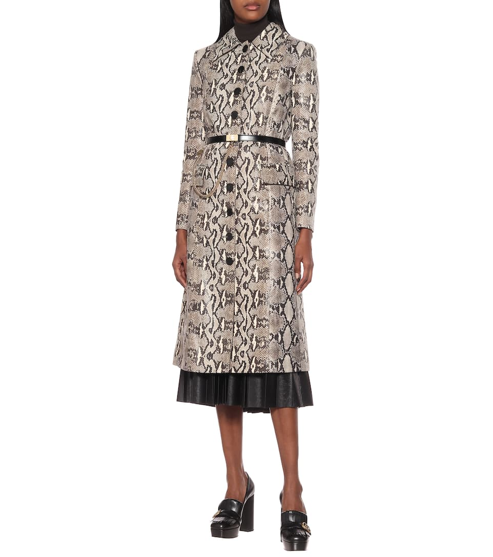 In A Trench Serpente Pelle Stampa Givenchy nN0Owvm8