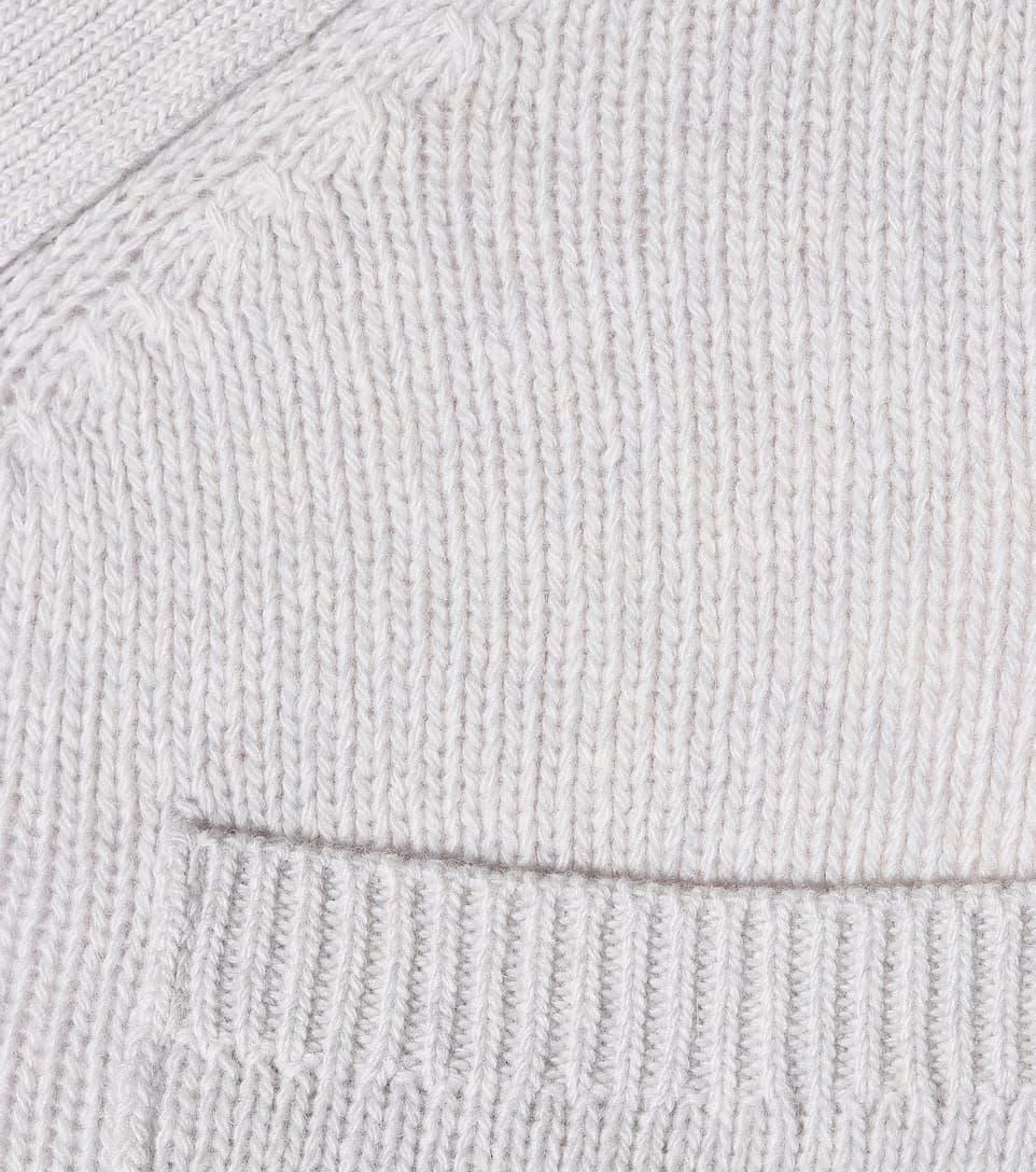 Cárdigan hombros de REDValentino descubiertos con Gris Claro lana c48TPcrW7