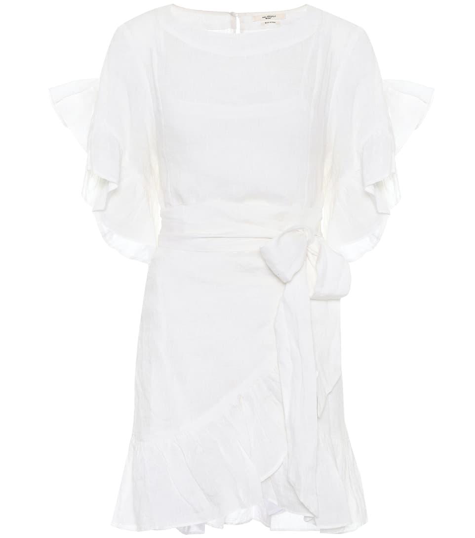 Robe Portefeuille En Lin Delicia