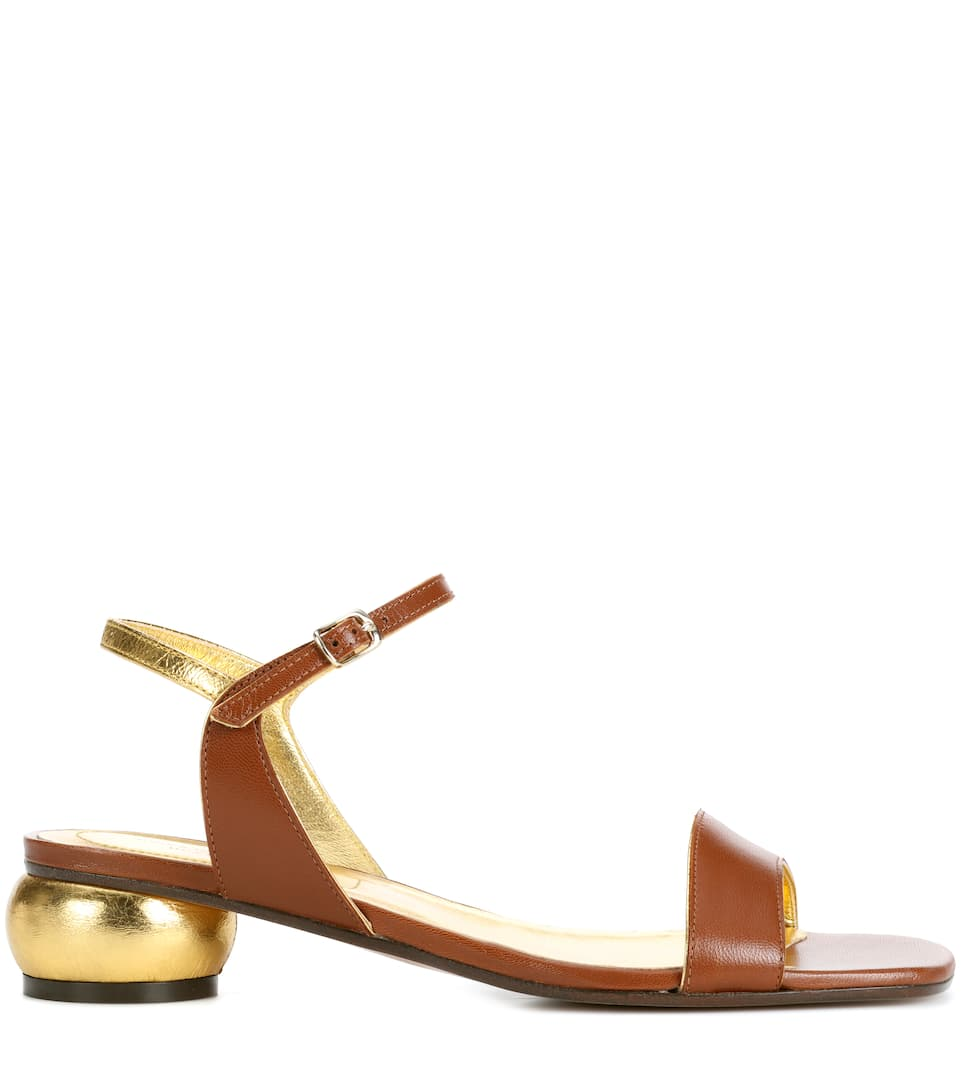 Dries Van Noten Sandalen aus Leder