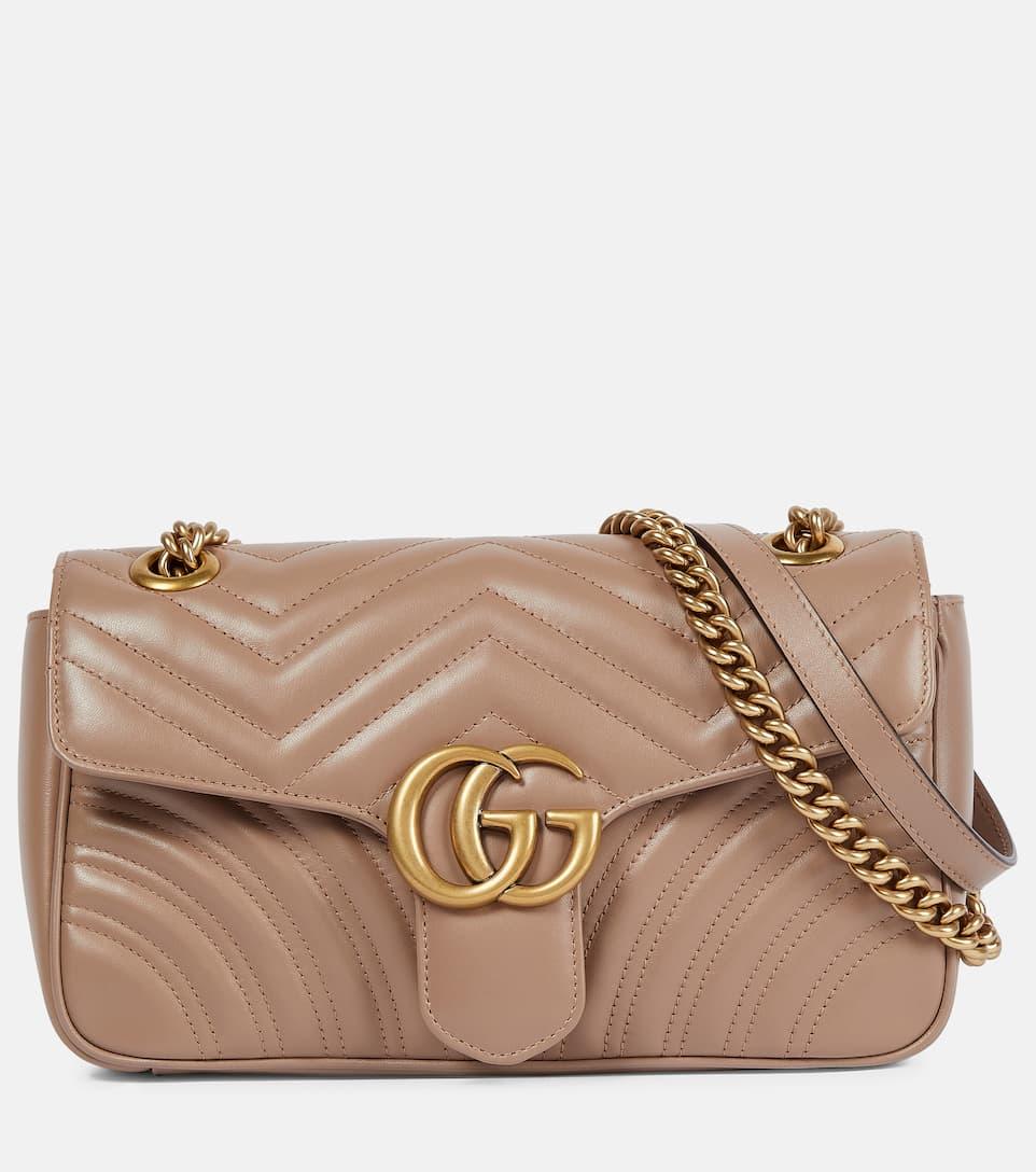 9afe0a8dc1866 Schultertasche Gg Marmont Small Aus Leder - Gucci