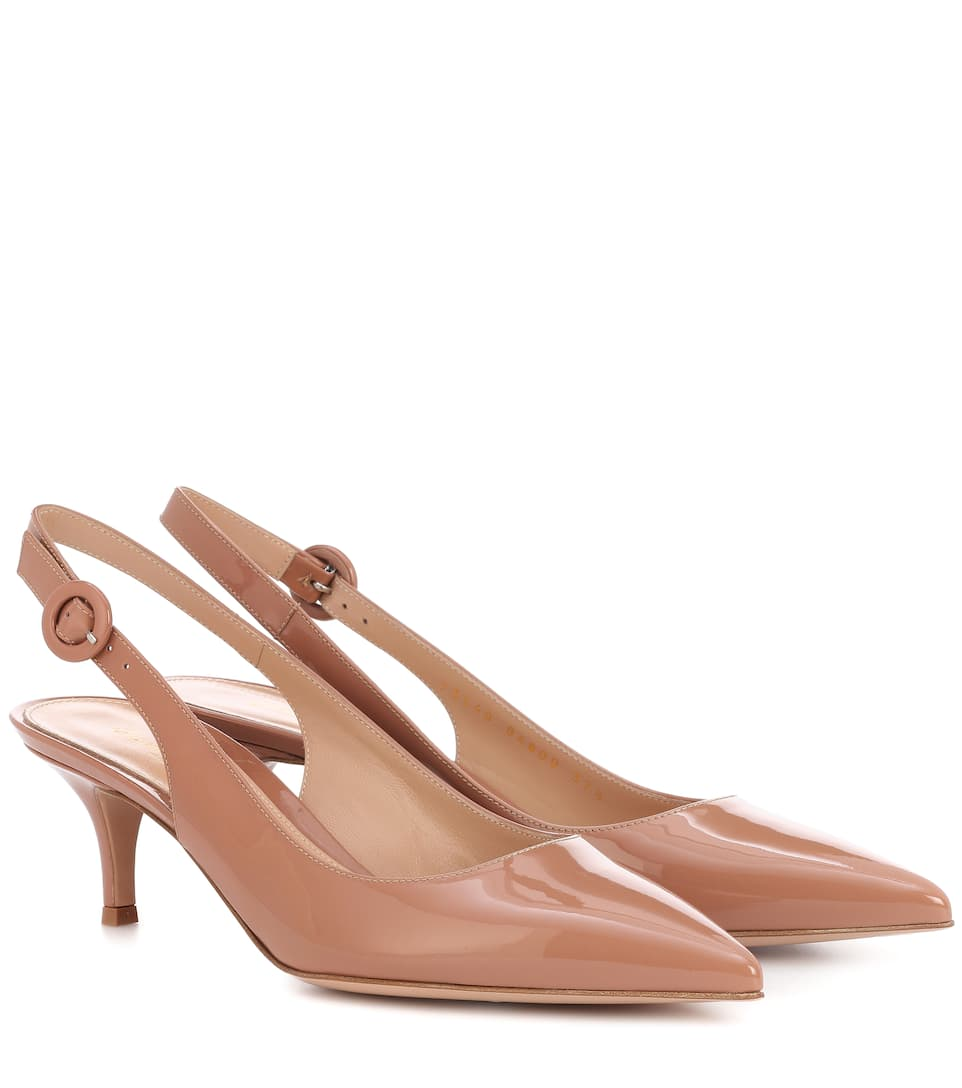 Gianvito Rossi Exclusive to mytheresa.com – Patent leather slingback pumps discount classic cheap sale for cheap i5lgc