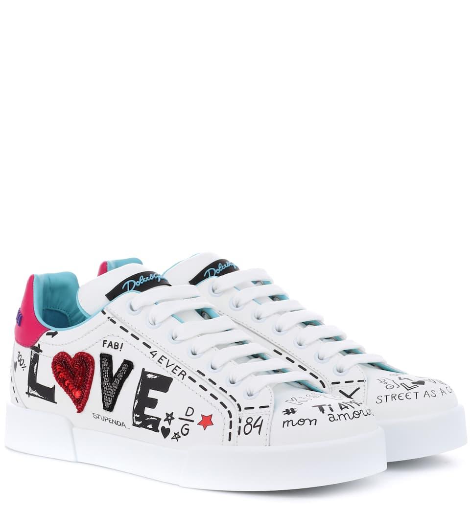 portofino-leather-sneakers by dolce-&-gabbana