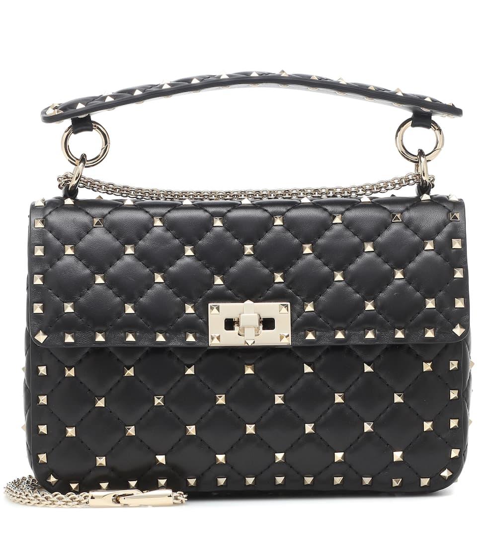 0a2e5d99355 Valentino Garavani Rockstud Spike Medium Leather Shoulder Bag - Valentino |  Mytheresa