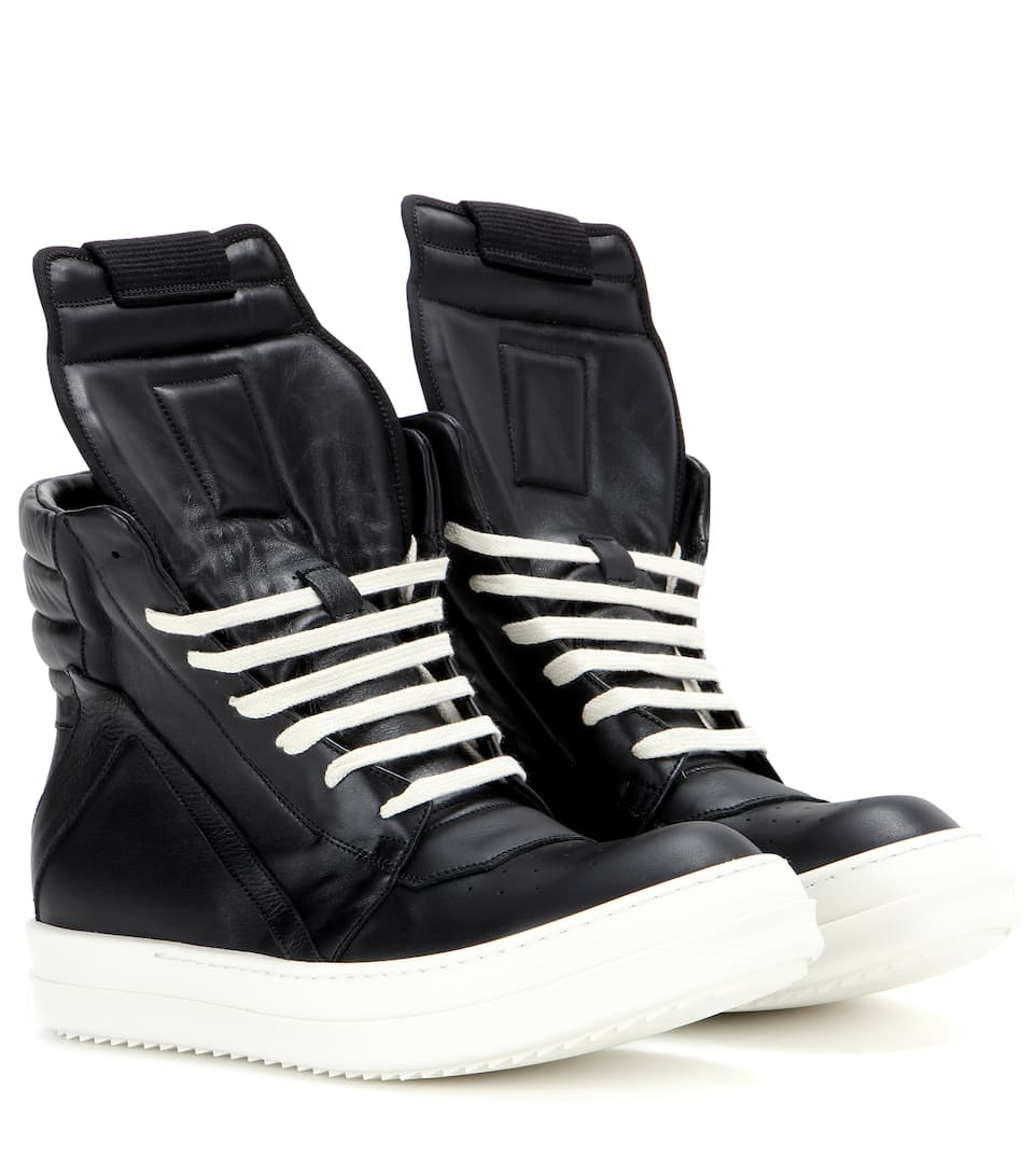 Geobasket hi-top sneakers - Black Rick Owens