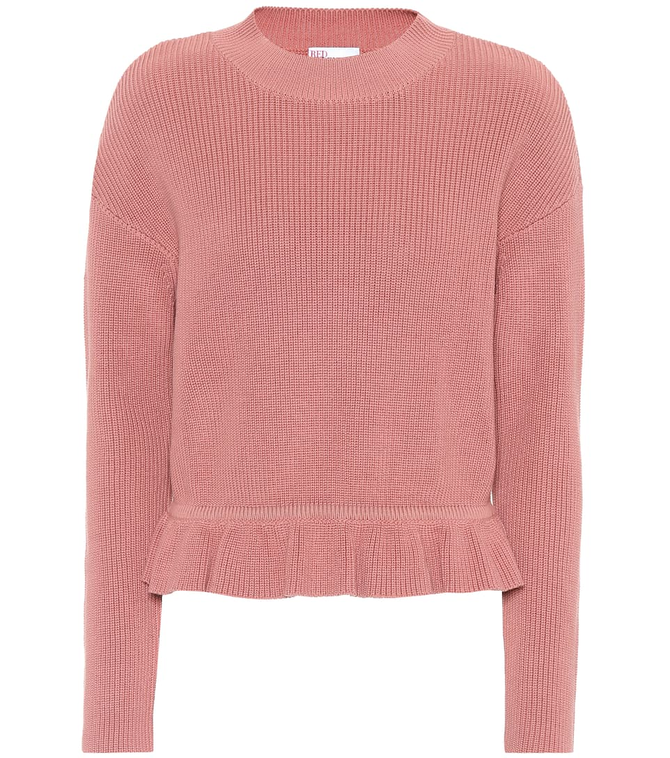Knitted Cotton Sweater by Red Valentino