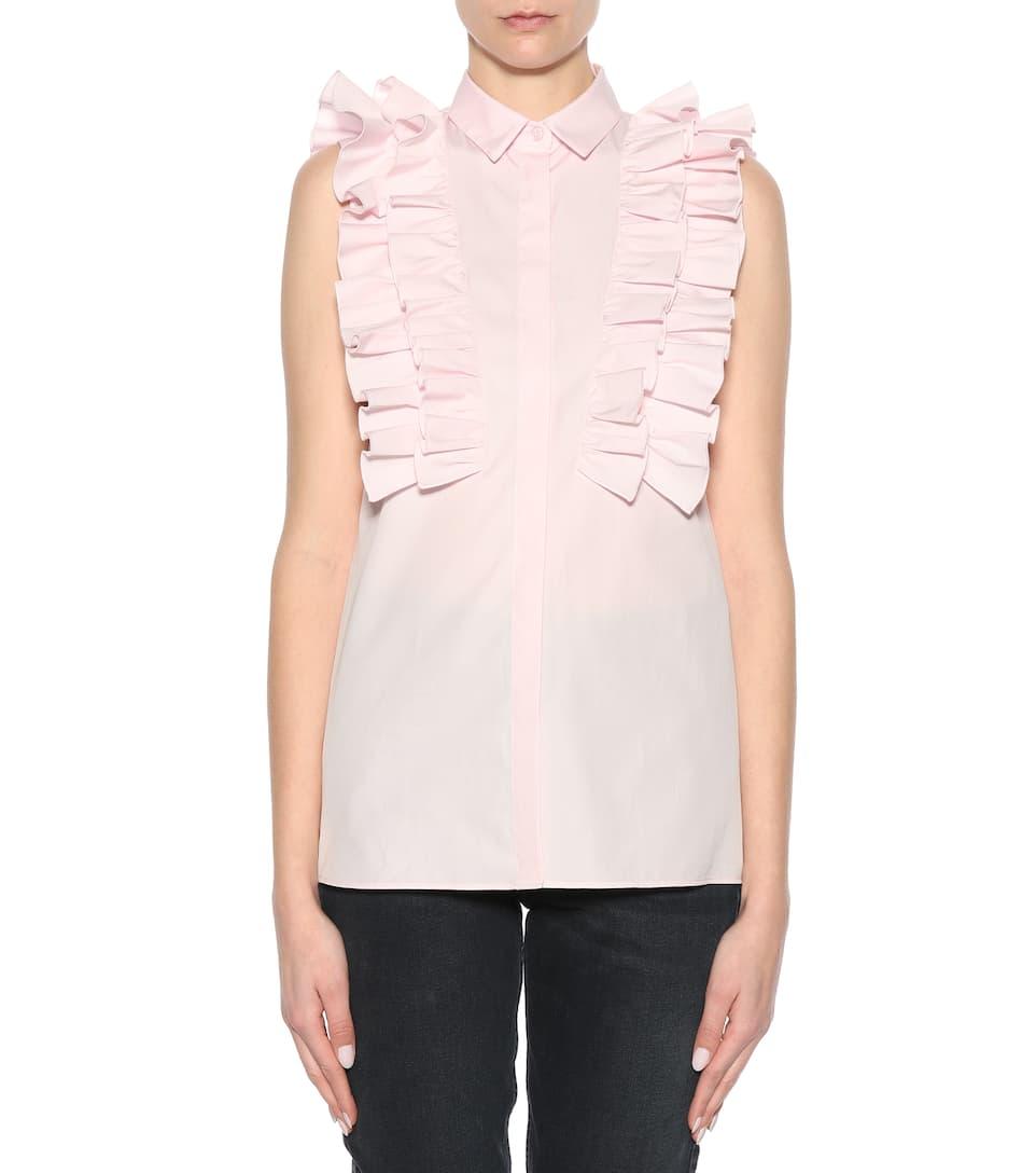 Rabatt Authentisch Original Online Giambattista Valli Ärmellose Bluse aus Baumwolle mit Rüschen Erkunden Billige Auslass Preiswert 9bCAtoycj