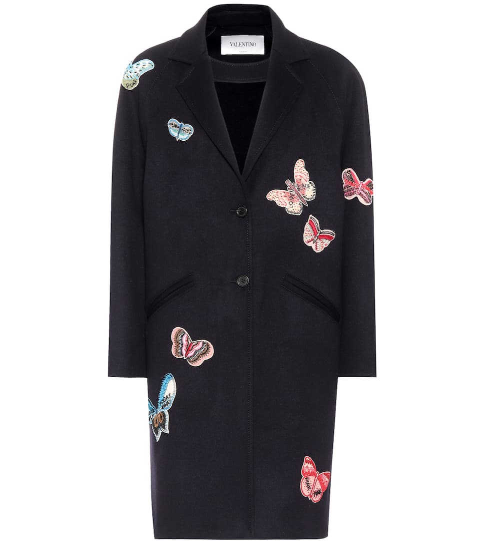 Embroidered Wool Coat by Valentino