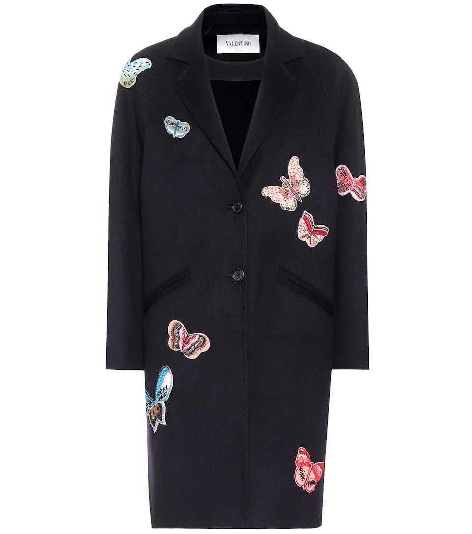 Valentino Verzierter Mantel aus einem Wollgemisch