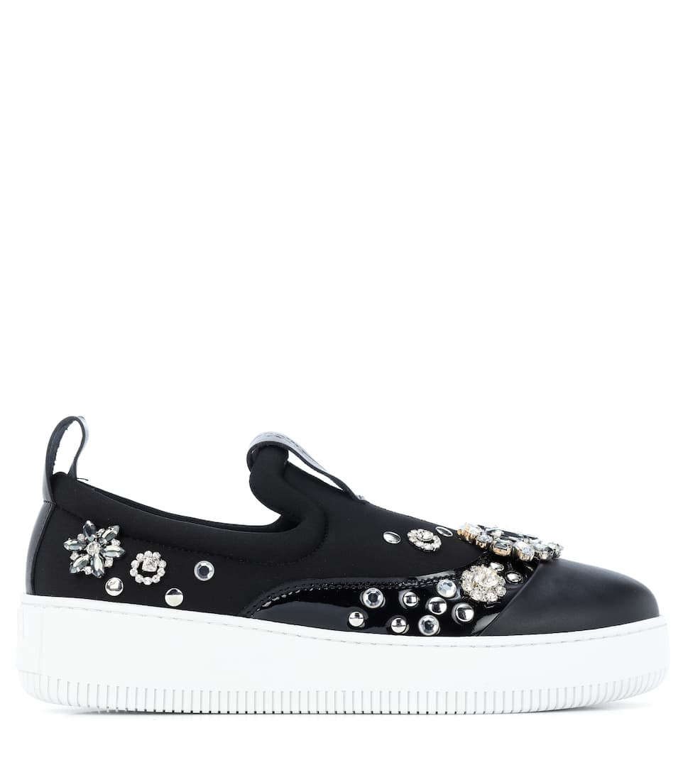 Outlet Cheap Quality The Cheapest Cheap Price Alexander McQueen Netil embellished sneakers Hot Sale Cheap Online J0wMepH