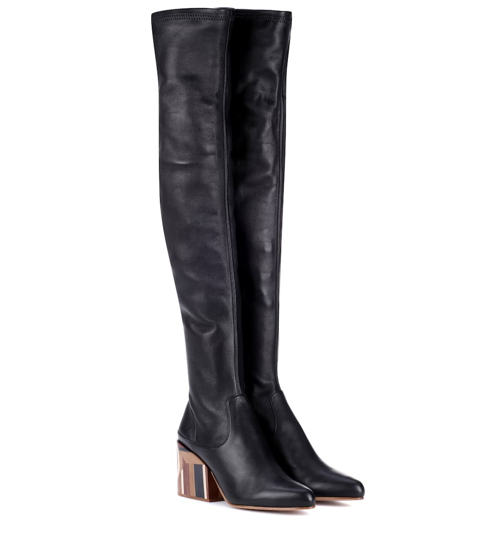 CATLETT OVER-THE-KNEE LEATHER BOOTS