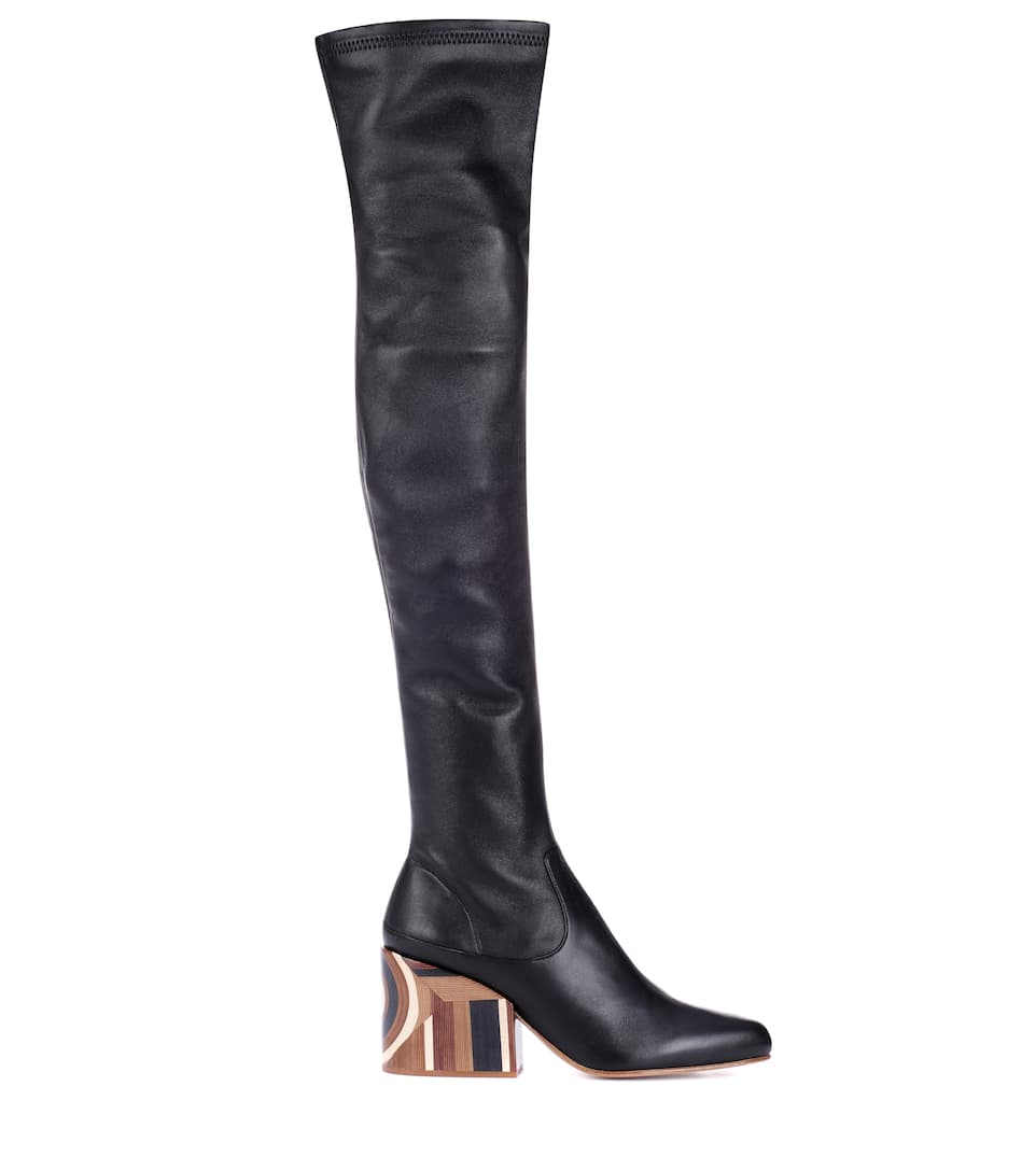 Gabriela Hearst Catlett over-the-knee leather boots Black Store Sale Online Clearance Original dH2ygj