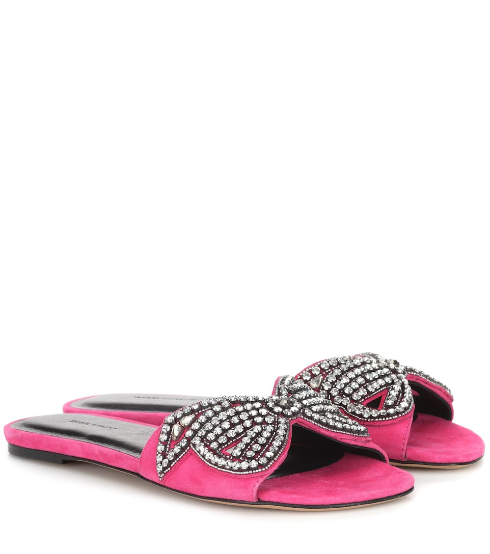 Isabel Marant Jelson embellished suede sandals gS1dqy7