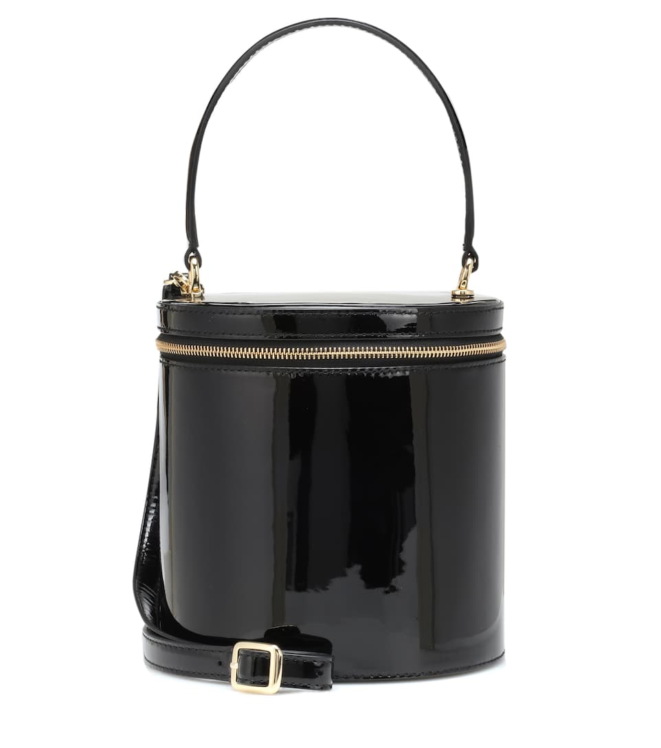Vitti Patent Leather Bucket Bag by Staud