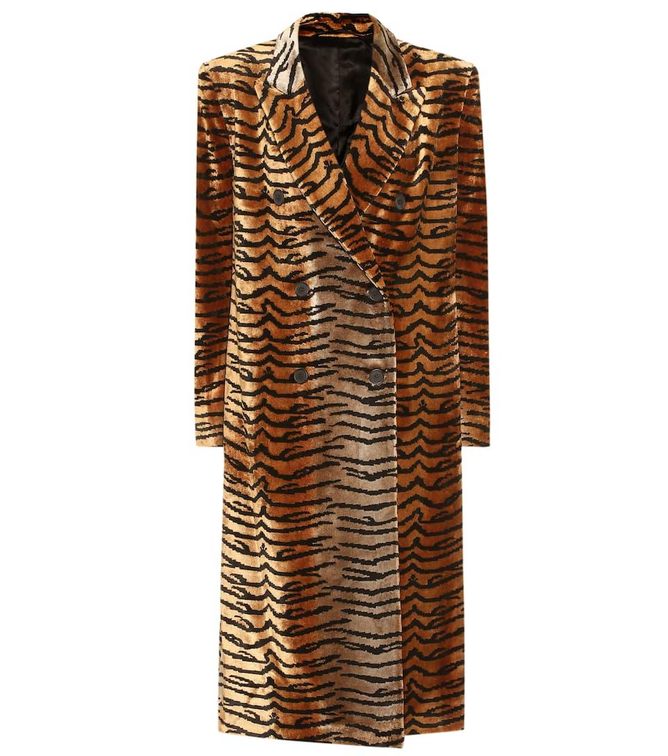 58c4394fd Tiger-Print Velvet Coat   The Attico - Mytheresa