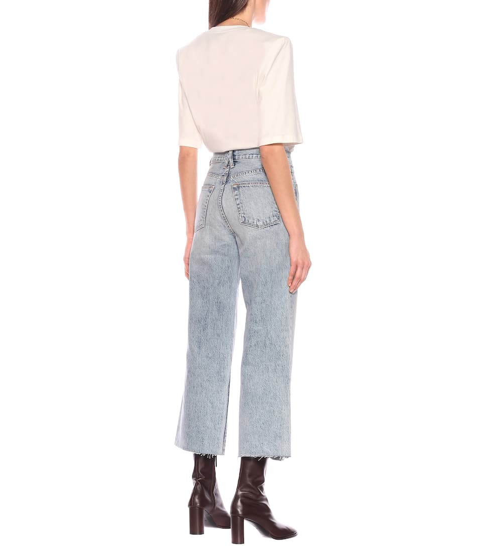 Slvrlake - Grace Crop high-rise wide-leg jeans