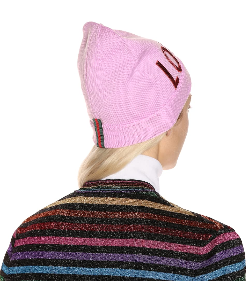 Sequinned wool beanie Gucci gi6v7dBpX8