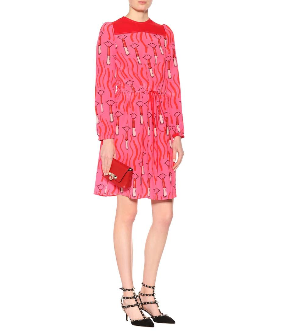 Valentino - Robe en soie imprimée