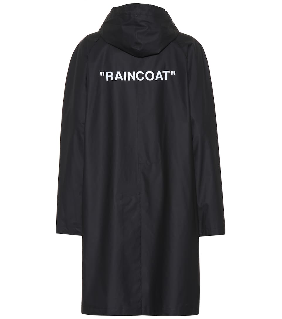 2bdbe4f39352 Quote Printed Raincoat