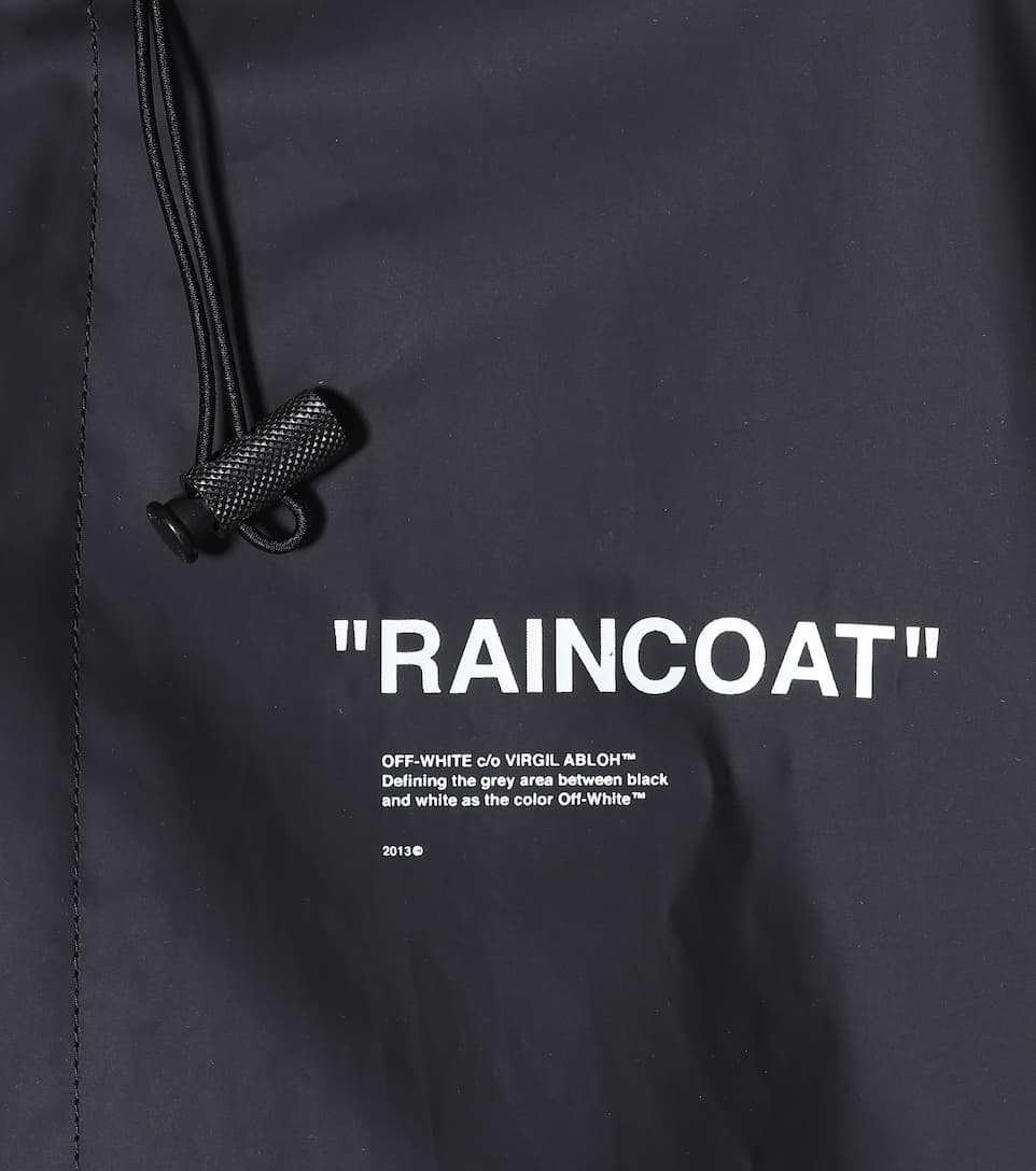 24c9af407cd1 Off-White - Quote printed raincoat