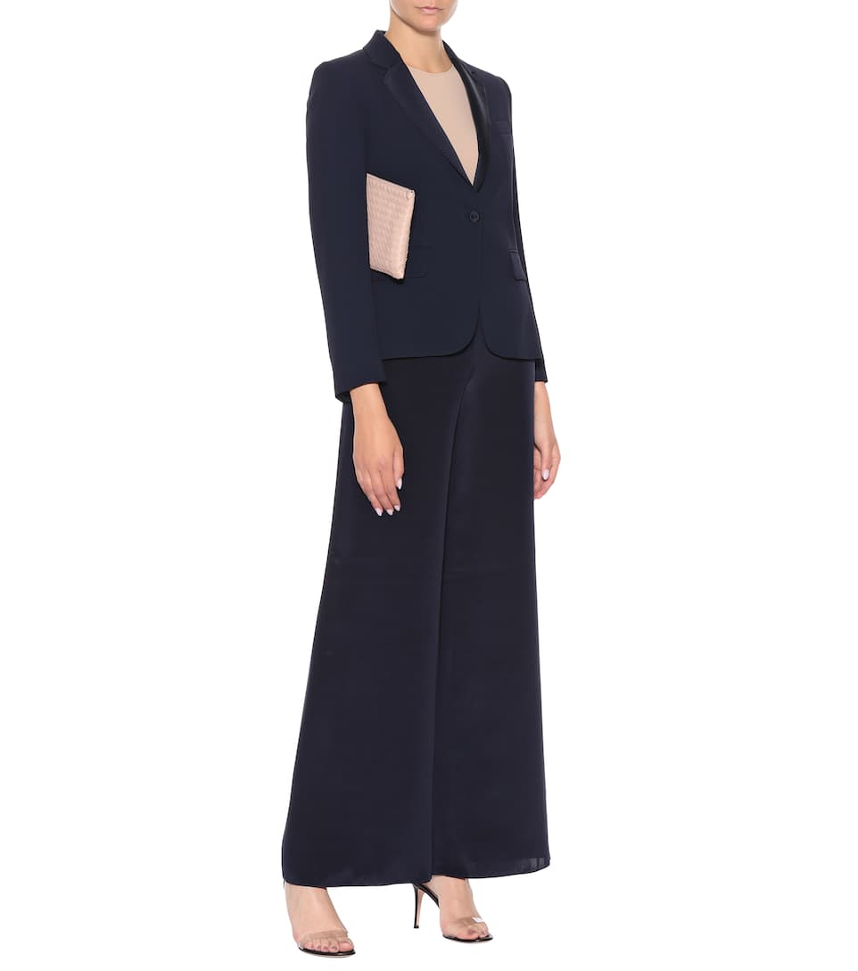 Choice Online Max Mara Radioso crêpe blazer Navy Extremely Buy Cheap Big Discount Clearance With Credit Card Cheap Price From UK UBoWuk