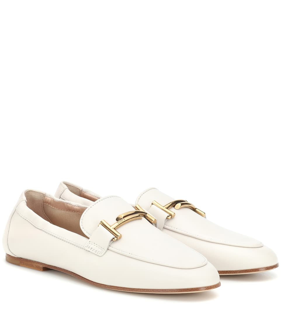Loafers Double T Aus Leder by Tod's