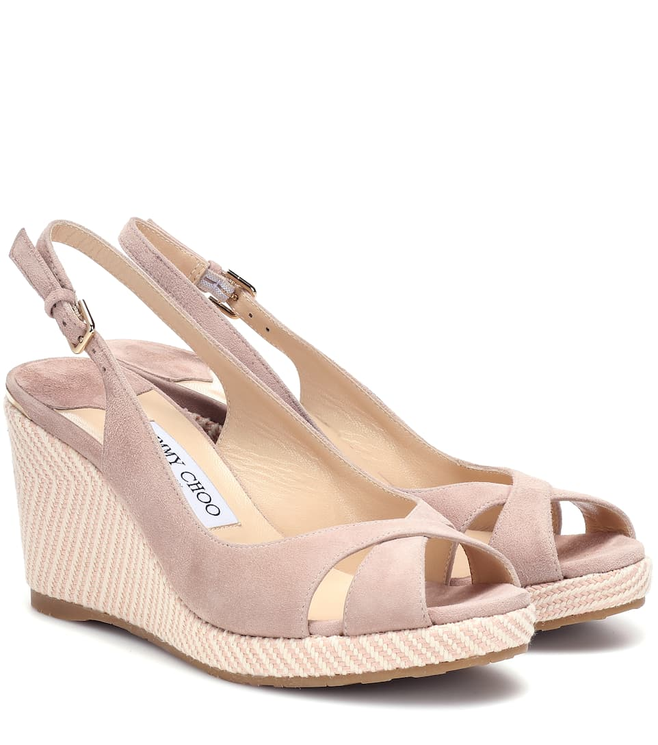 0dcc9bf6980 Amely 80 Suede Wedge Sandals