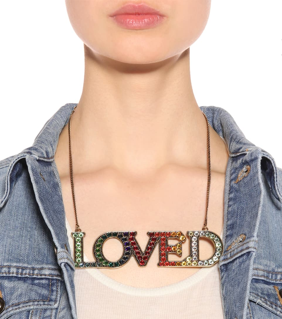 Gucci Loved necklace with crystals OOxXopi