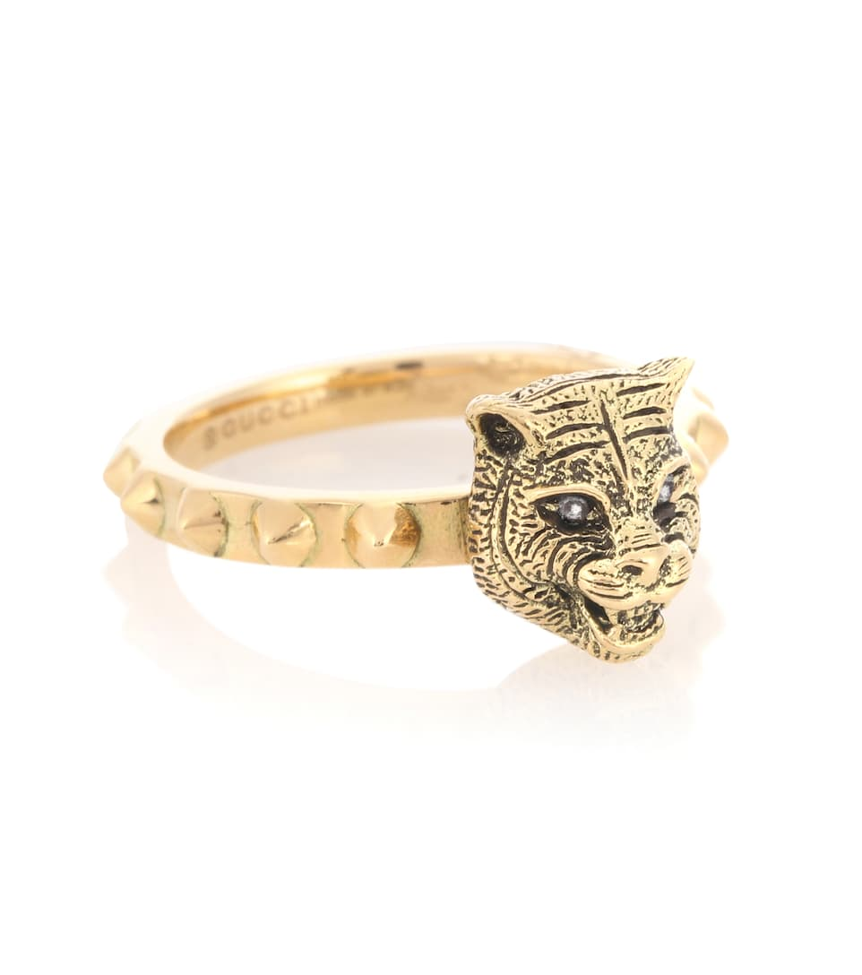 8cbccacca5f Le Marché Des Merveilles 18Kt Gold Ring With Diamonds - Gucci ...