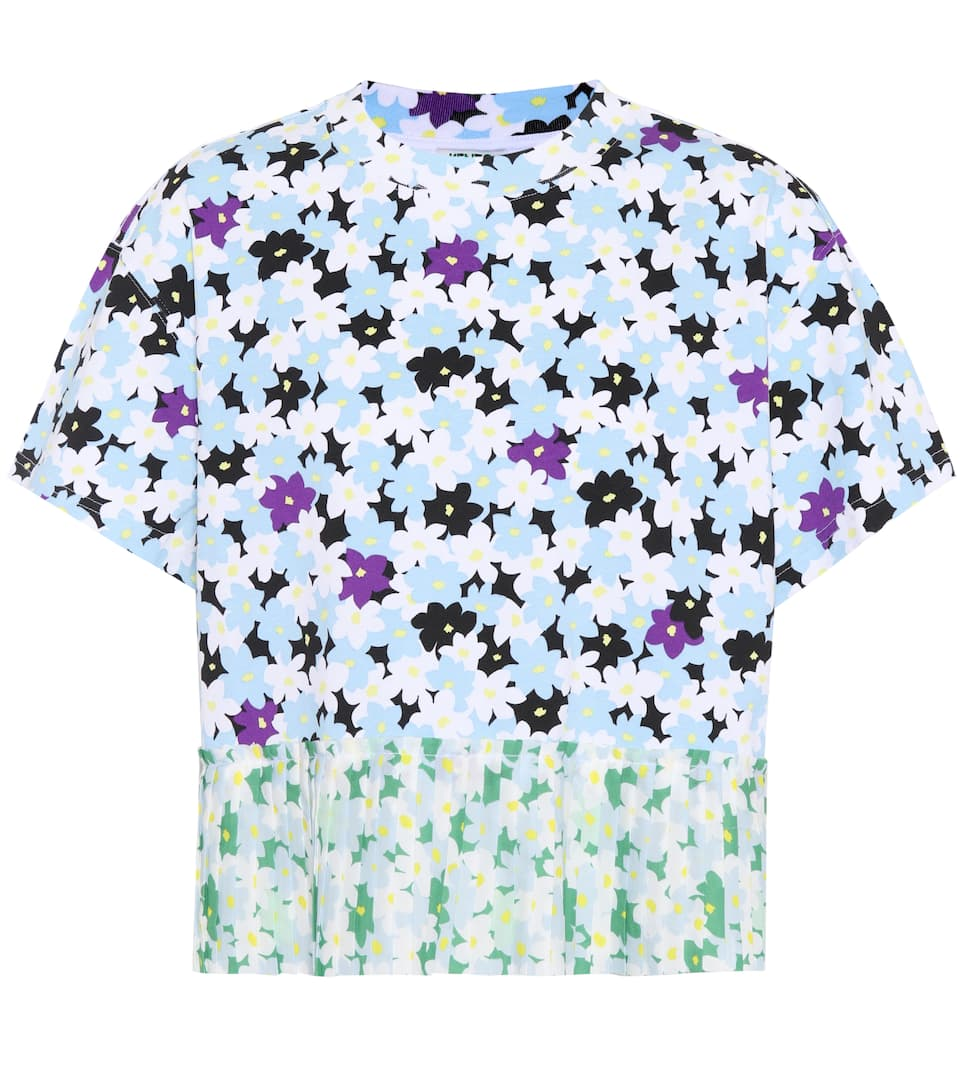 Mixed Floral Cotton T-Shirt in Multicolour