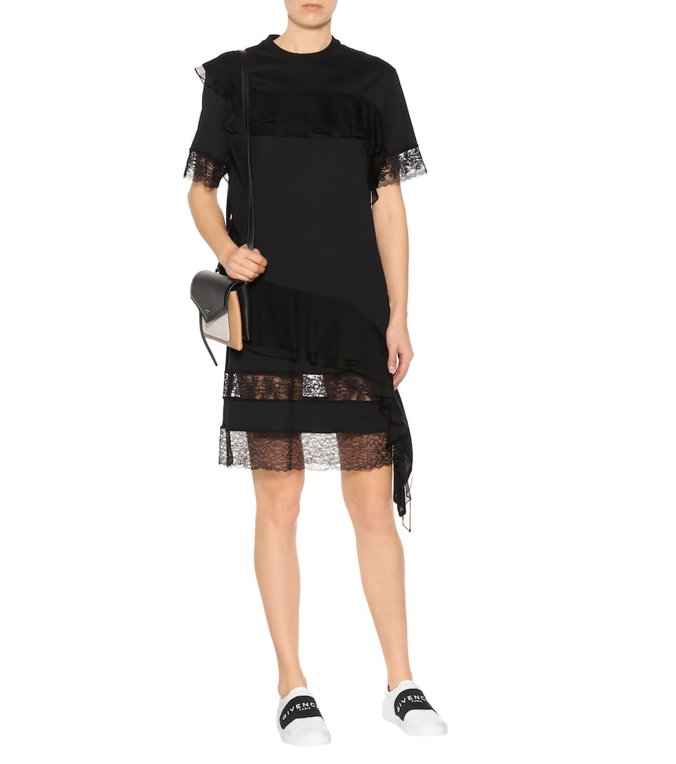 Réduction 2018 Sortie En Porcelaine Givenchy - Robe en coton et dentelle BWgeC