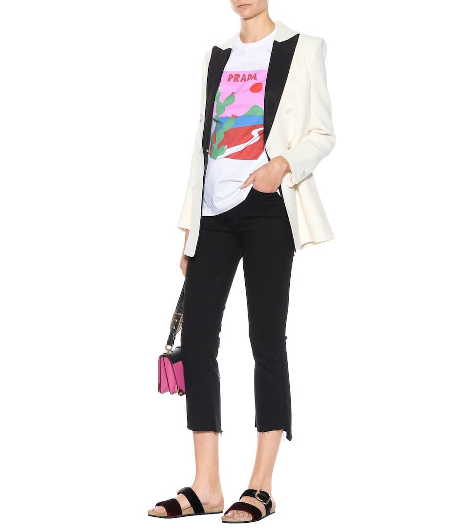 Günstig Kaufen Erkunden  Wo Sie Finden Können Prada Bedrucktes T-Shirt aus Baumwolle hR6HV9v8