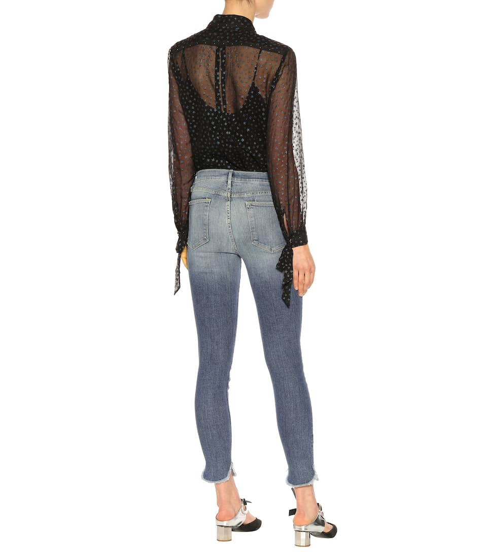 Frame High Rise Cropped Skinny Jeans
