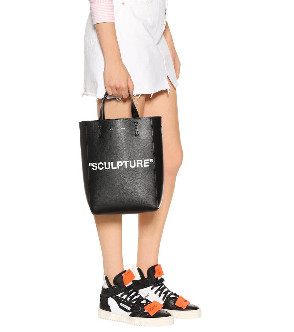 Off-White Shopper aus Leder