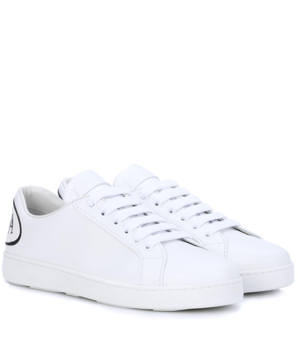 Appliquéd Leather Sneakers Prada Mytheresa - Formal invoice format best online sneaker store