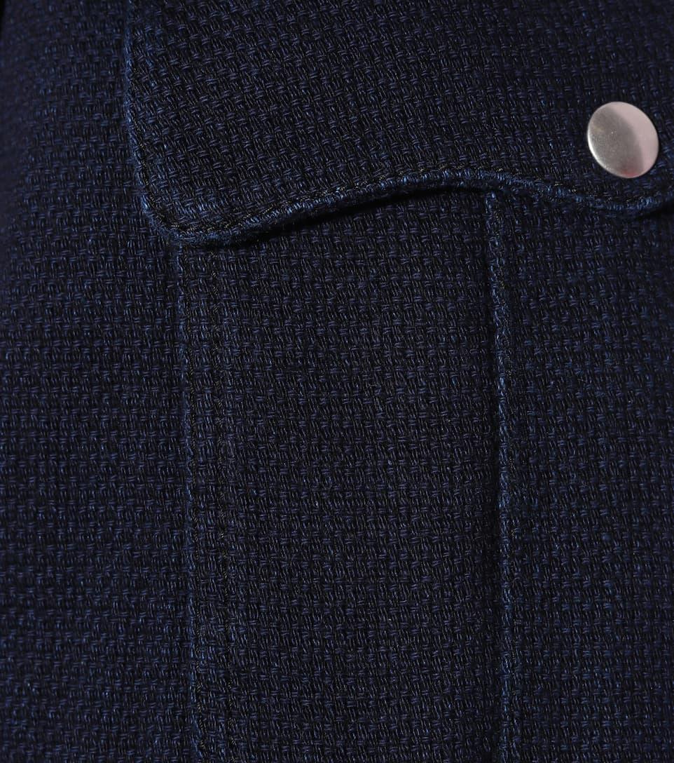 Philosophy Di Lorenzo Serafini Distressed High-rise Shorts Aus Baumwolle