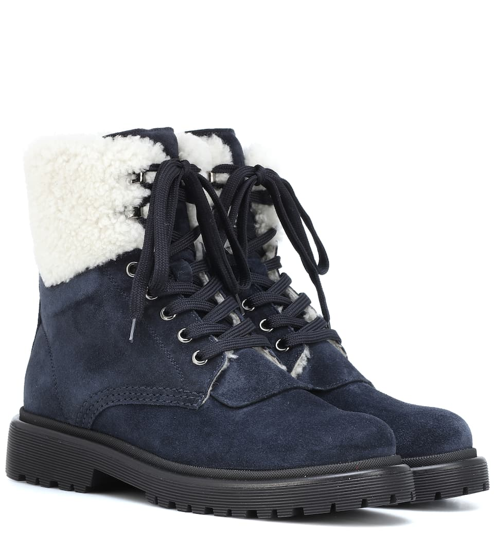 41b5a665f645 Patty Suede Ankle Boots - Moncler