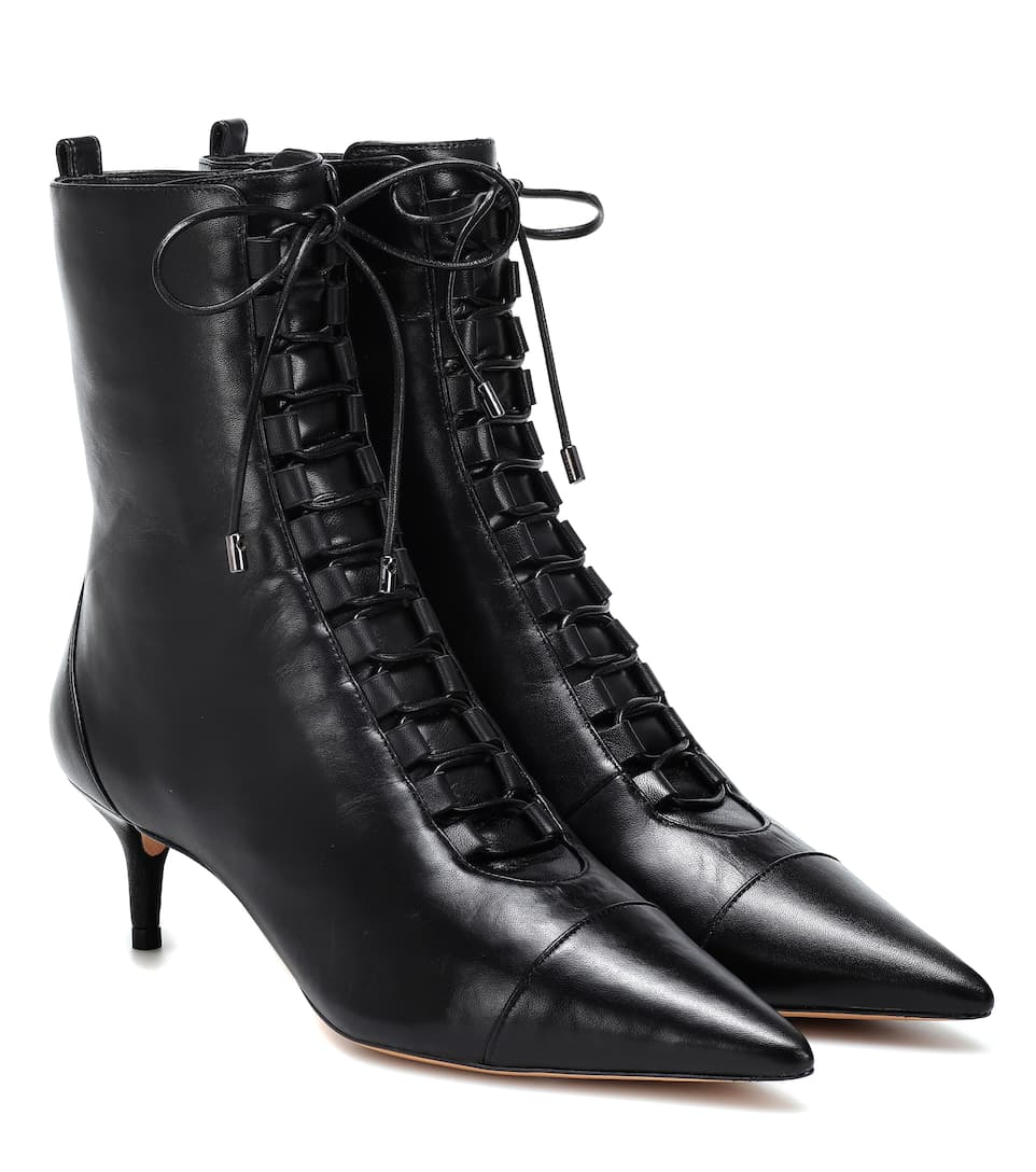 Lace Up Leather Ankle Boots by Alexandre Birman